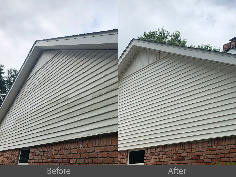 pressure washing exterior siding