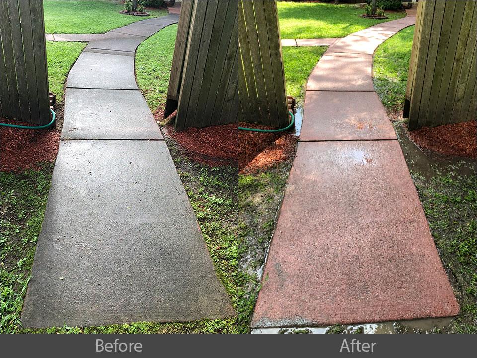 pressure cleaning sidewalk